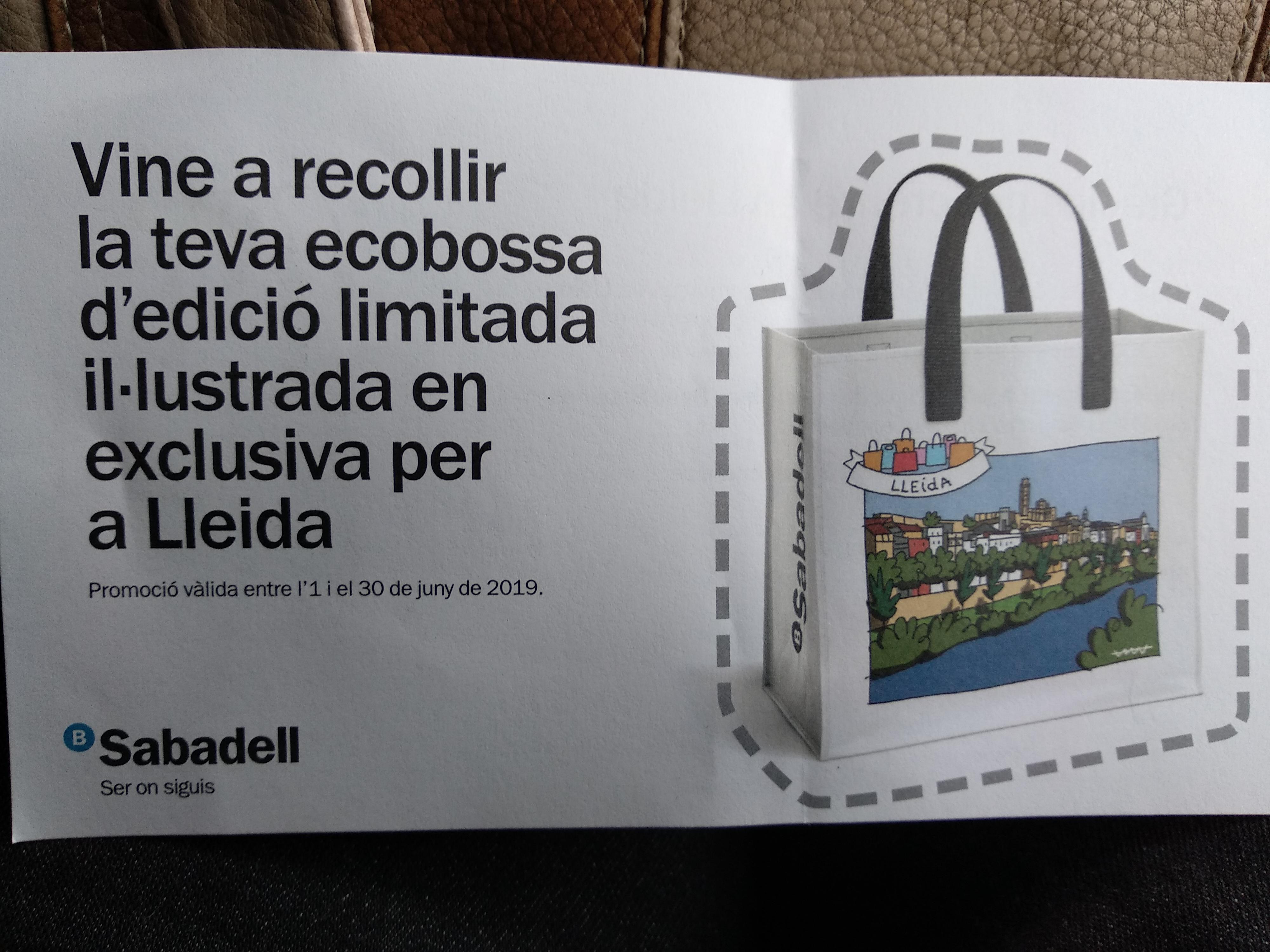 Ecobolsa ilustrada gratuita Lleida(compra sin mínimo)