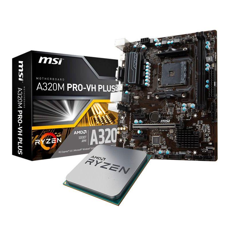 MSI A320M PRO   VH PLUS + AMD Ryzen 3 2200G 3.7GHz - Bundle