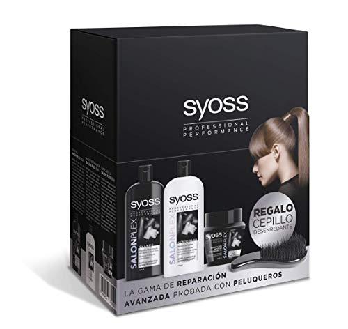 Syoss - Pack  Champú + Acondicionador + Mascarilla + Cepillo de Regalo