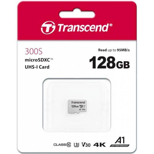 Microsd Transcend 128Gb Cl10 Uhs-3 +Adaptador Sd