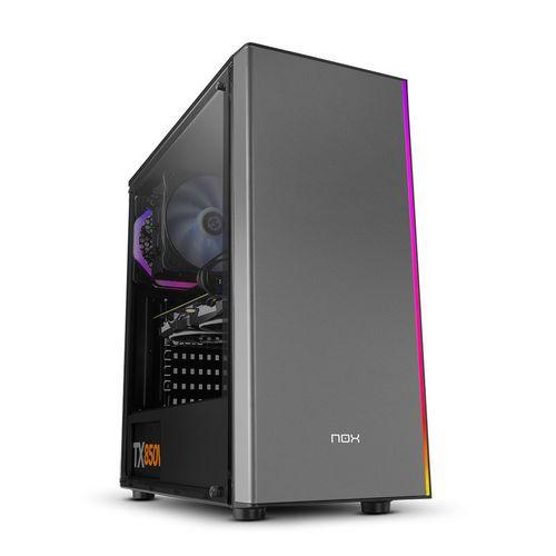 Nox Infinity Omega RGB - Caja Semitorre/atx S/fuente