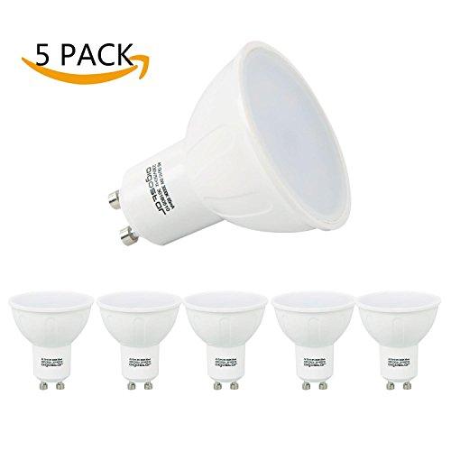 Aigostar -Bombilla LED 8W GU10 , Luz calida 3000K, 560lm, 8W Equivalente a 55Watt Lámpara Incandescente,Paquete de 5 Unidades [Clase de eficiencia energética A+]