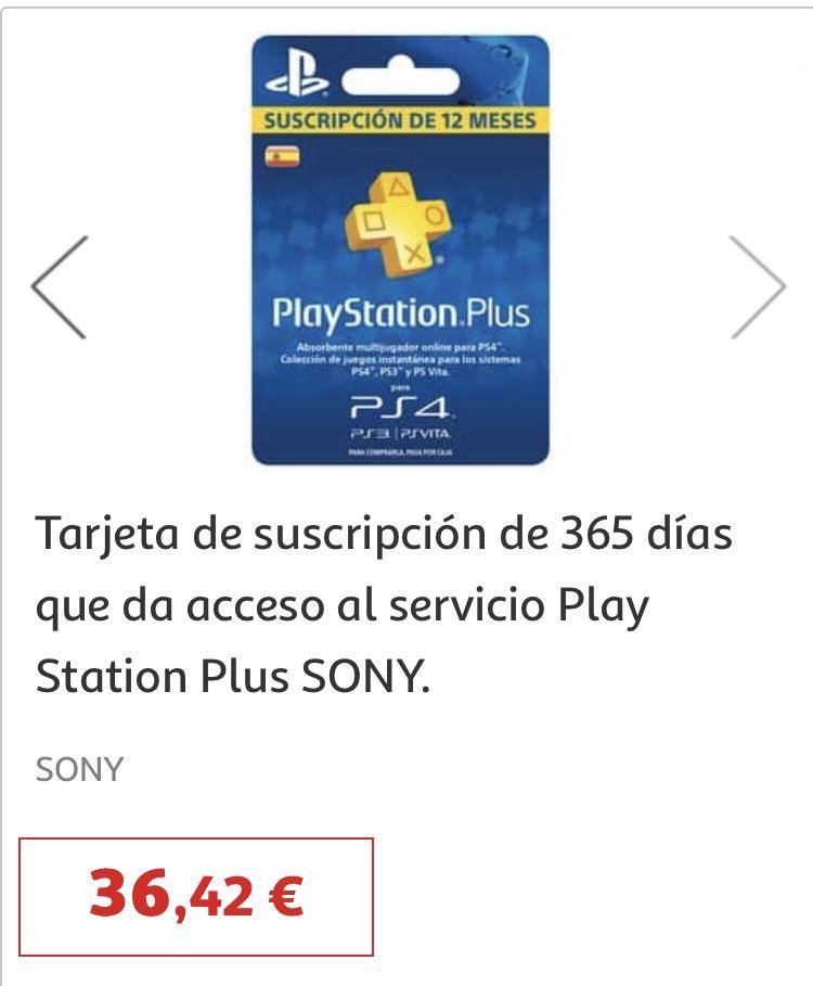 PlayStation Plus 365 Dias Alcampo Getafe