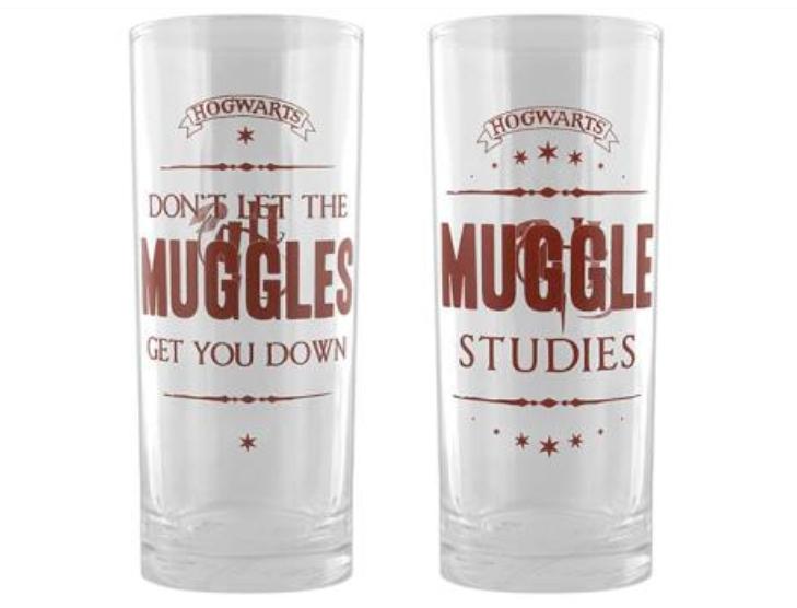 Set de 2 vasos Harry Potter Muggles
