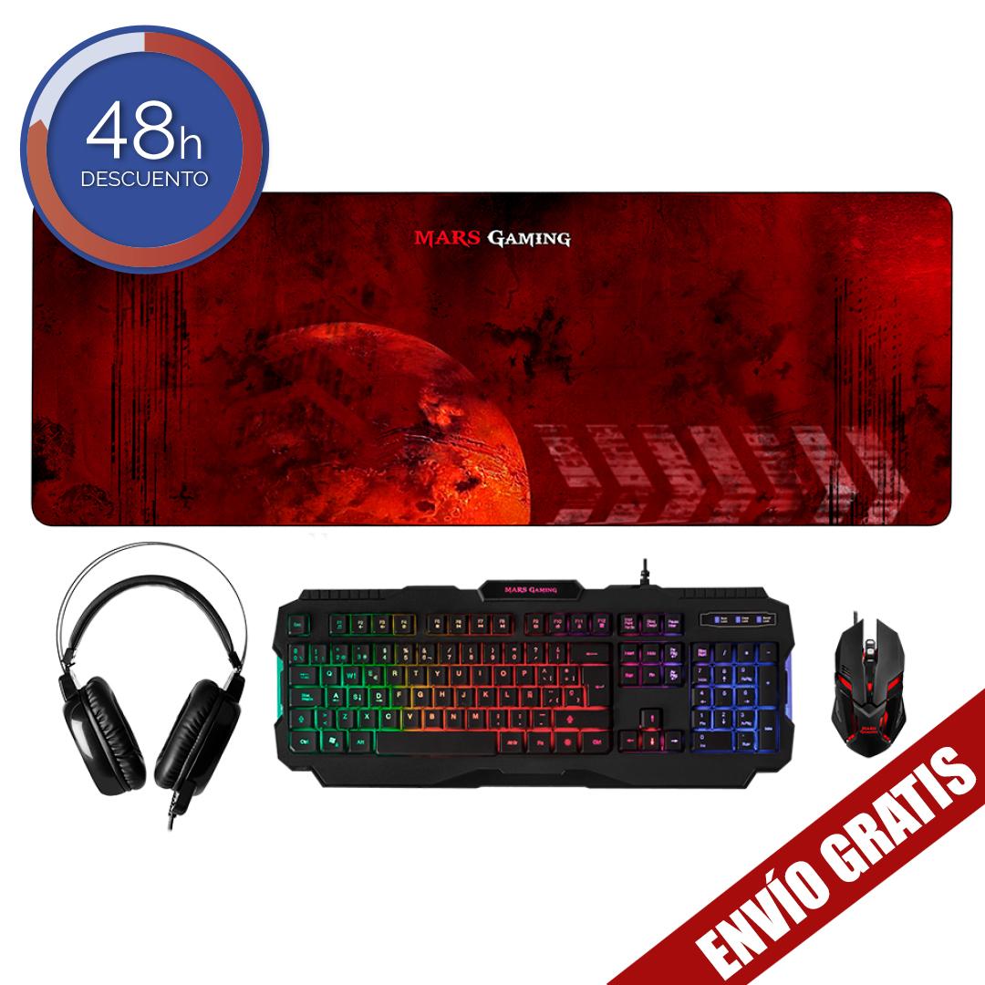 Pack de accesorios para ordenador Mars Gaming MCPRGB