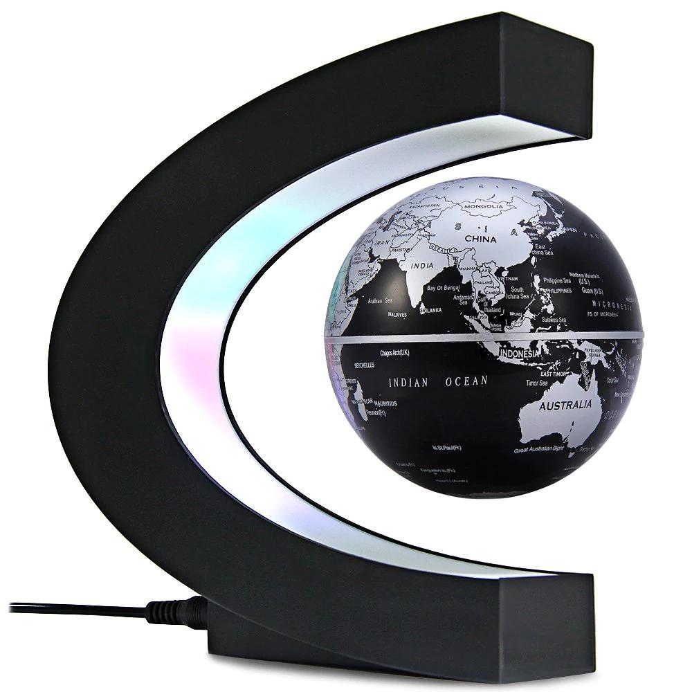 Bola del mundo magnética con LED