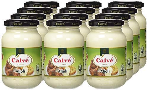 Calvé Salsa Alioli - Pack de 12 x 225 ml (Total 2.700 ml.)
