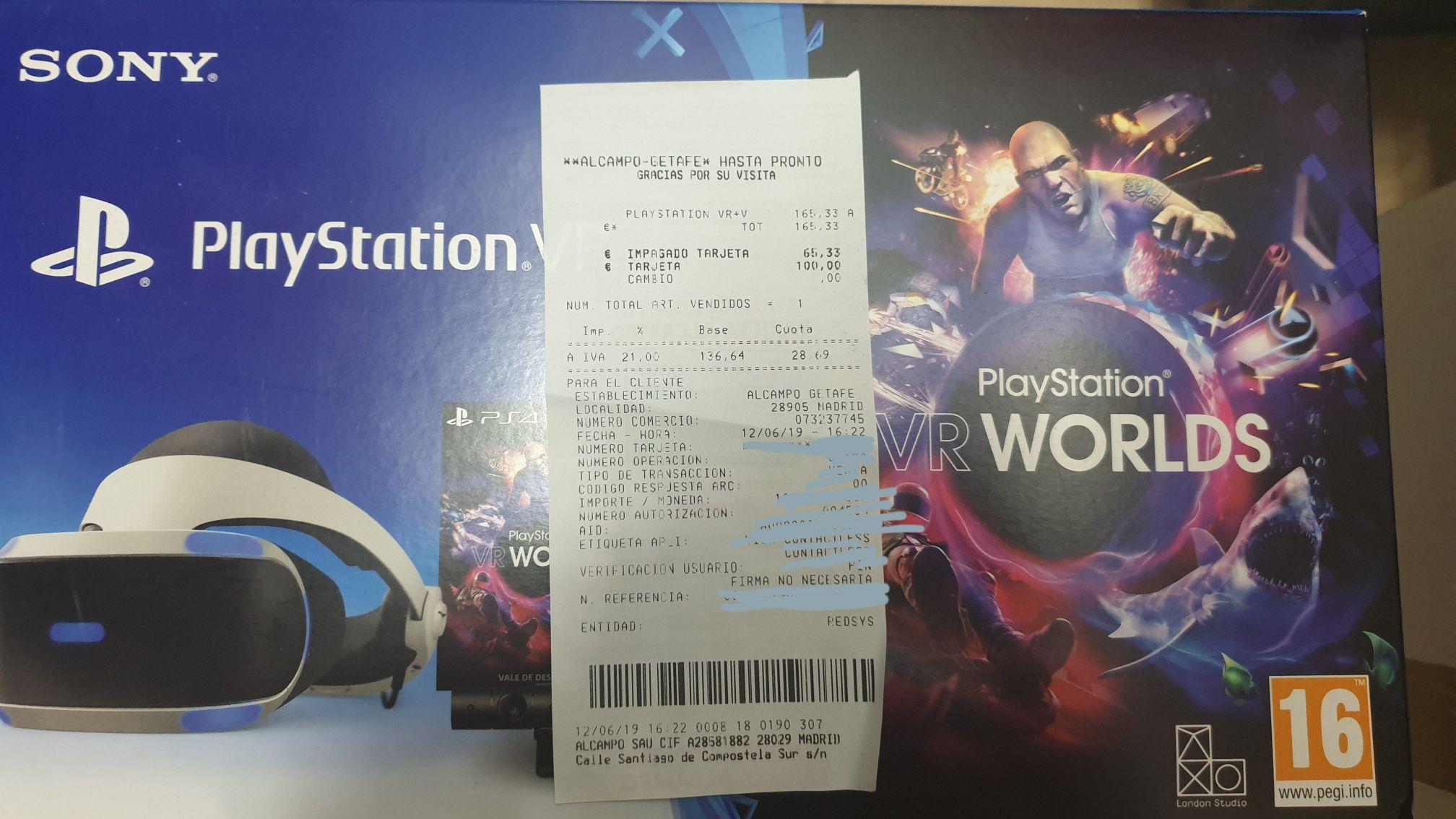 Playstation VR2 + cámara + Vr worlds Alcampo Getafe