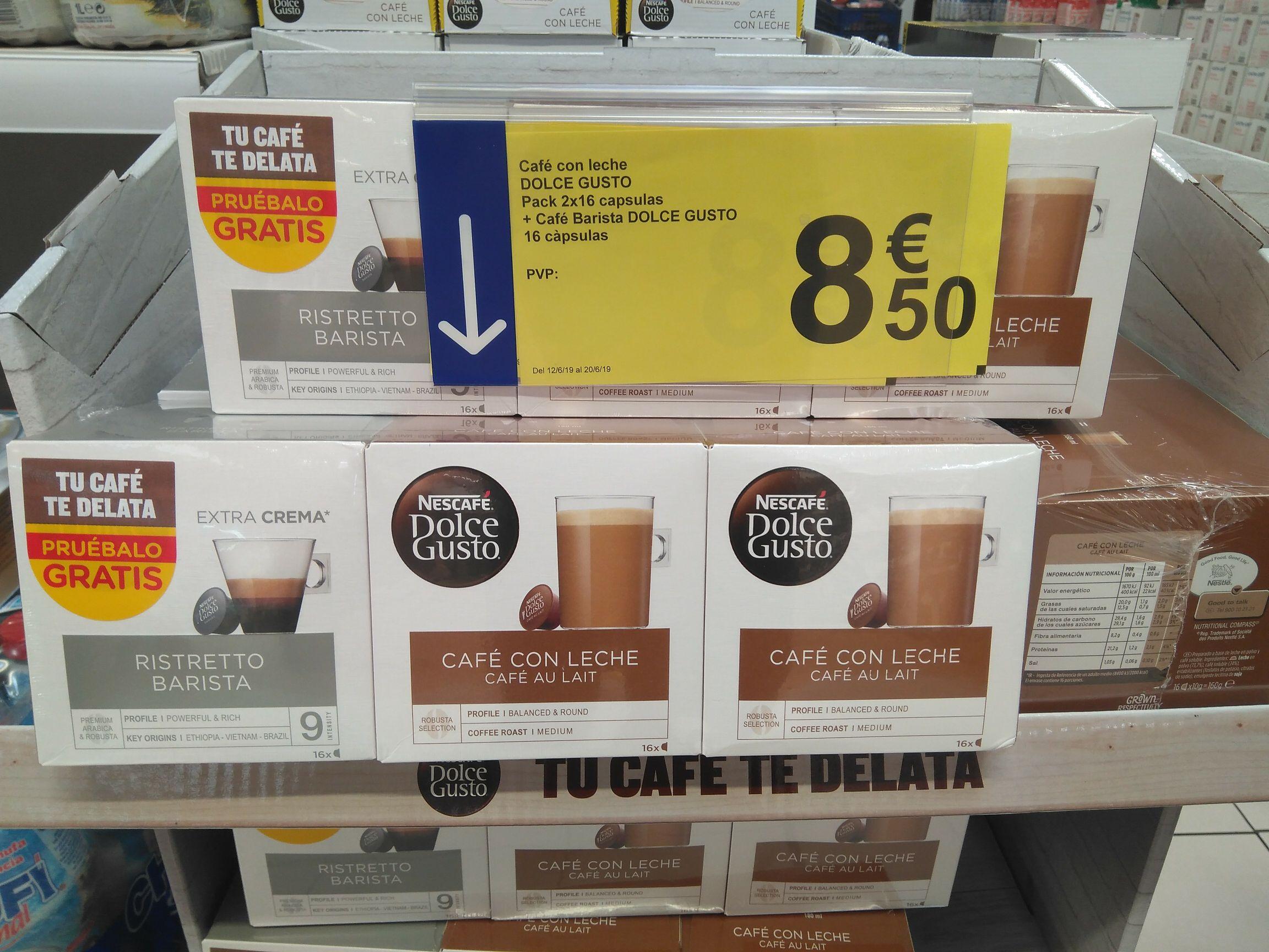 Oferta Carrefour, 48 cápsulas de café Dolce Gusto por 0,177€/ud