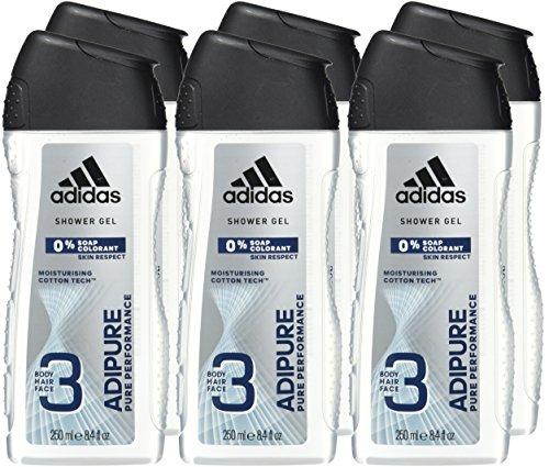 adidas Adipure Gel de Ducha - 6 pack (6 x 250 ml)