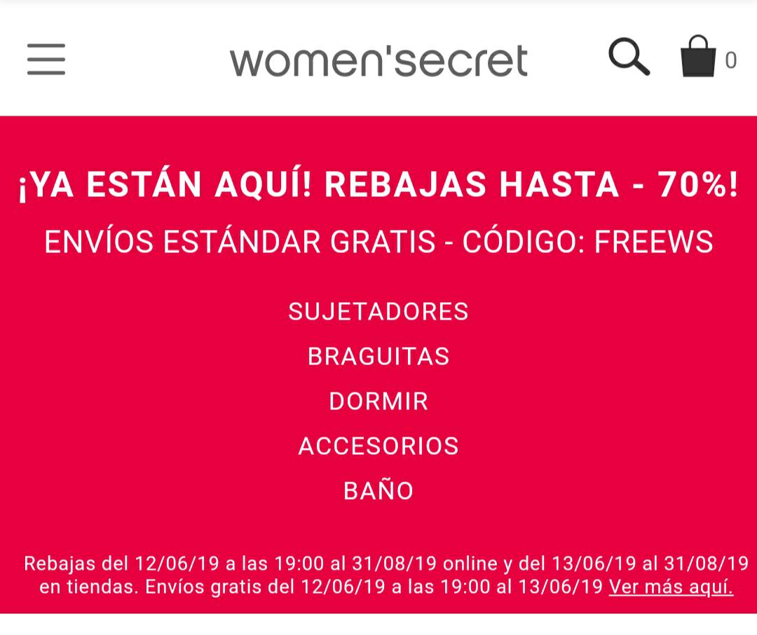 Secret Women HASTA UN 70% REBAJAS