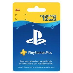 12 meses de PlayStation Plus