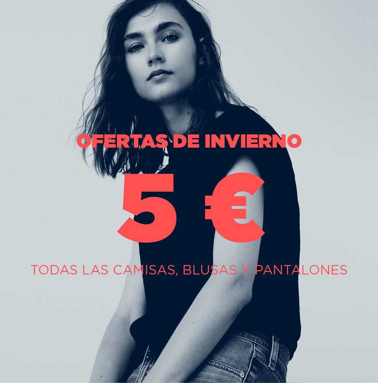 MANGOOUTLET - Todas las camisas y pantalones a 5 €