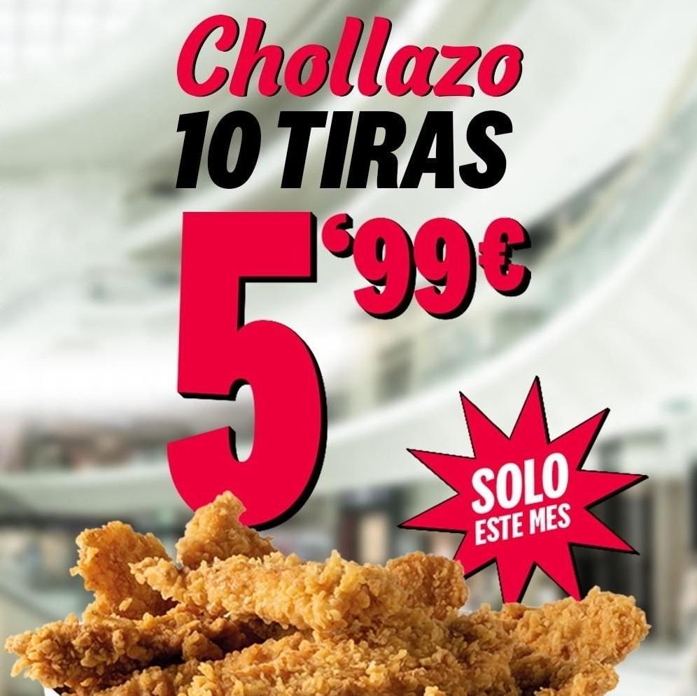 10 tiras en KFC por 5,99€ en Madrid y Barcelona