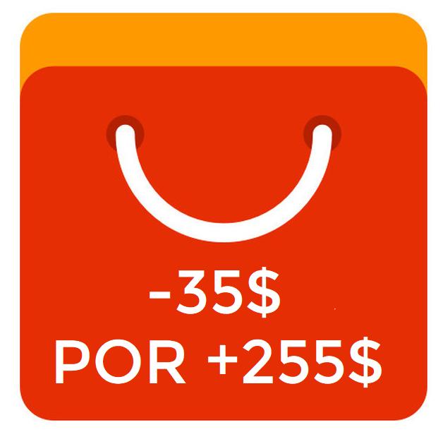 Cuponazo 35$ en pedidos +250$ Aliexpress