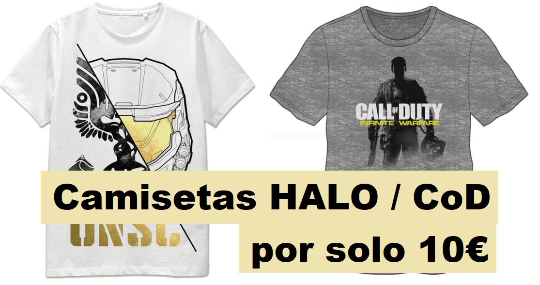 Camisetas Call of Duty / Halo por 7.50€