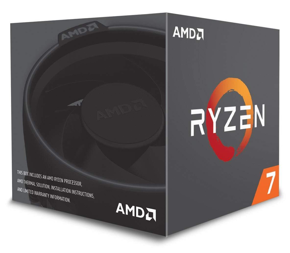 AMD Ryzen 7 2700  desde Amazon.it con disipador de calor Wraith Spire LED