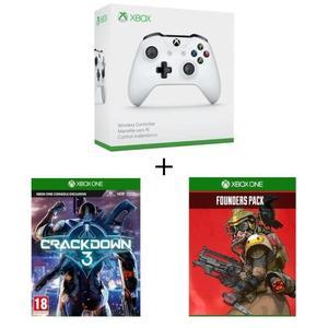 Mando Xbox One Blanco compatible con PC  + CrackDown 3 + Apex Legends Founder's Pack