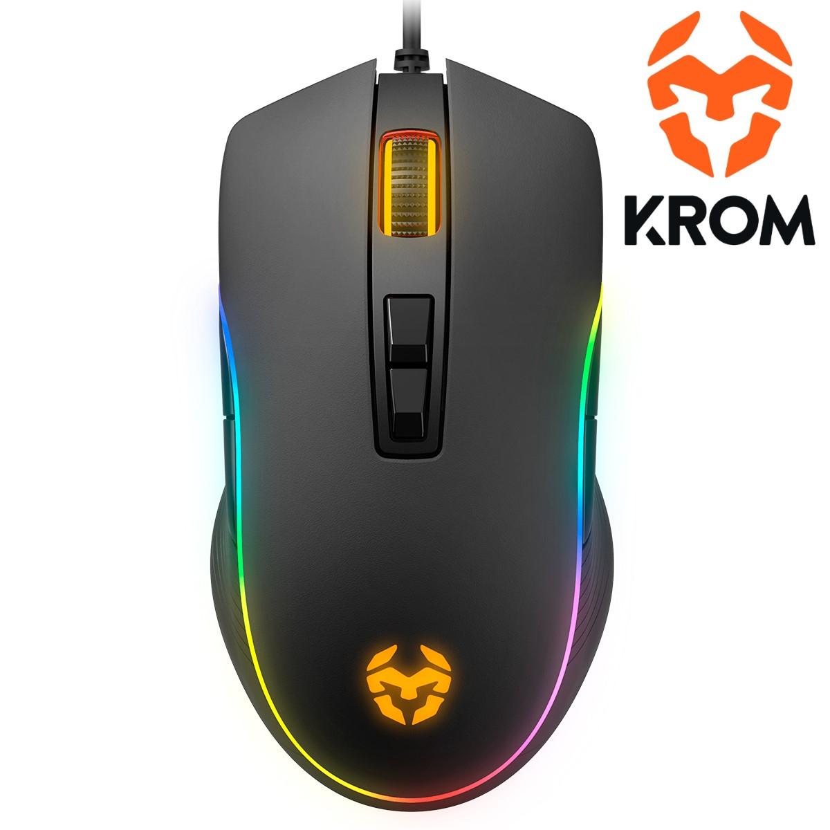 Raton Krom Kane Gaming Usb Optico 4000 Dpi Ambidiestro