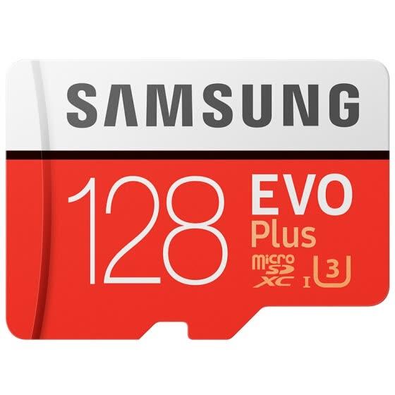 Tarjeta MicroSD XC clase 10 U3 Samsung EVO Plus 128GB 100MB/s