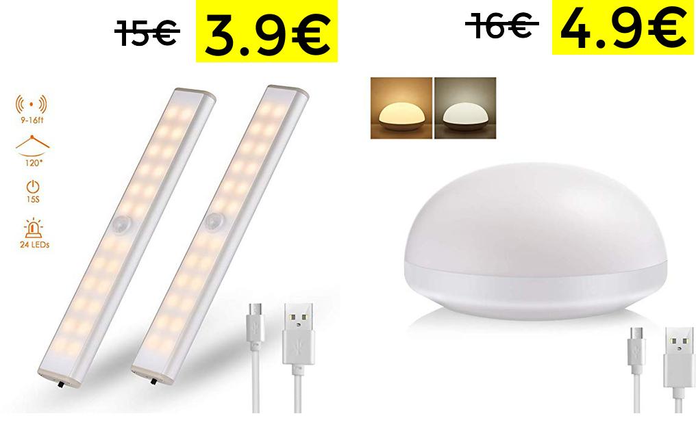 Lámpara luz nocturna solo 4.9€