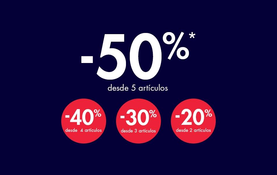 -50% desde 5 artículos en Kiabi