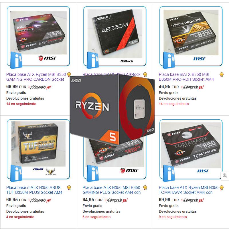 Selección Placas base AM4 y Ryzen 1000/2000 - Usados con garantía y Nuevos