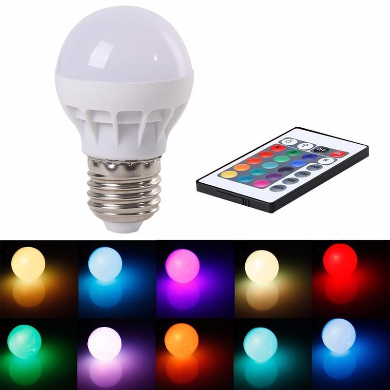 Bombilla LED RGB 5w con mando