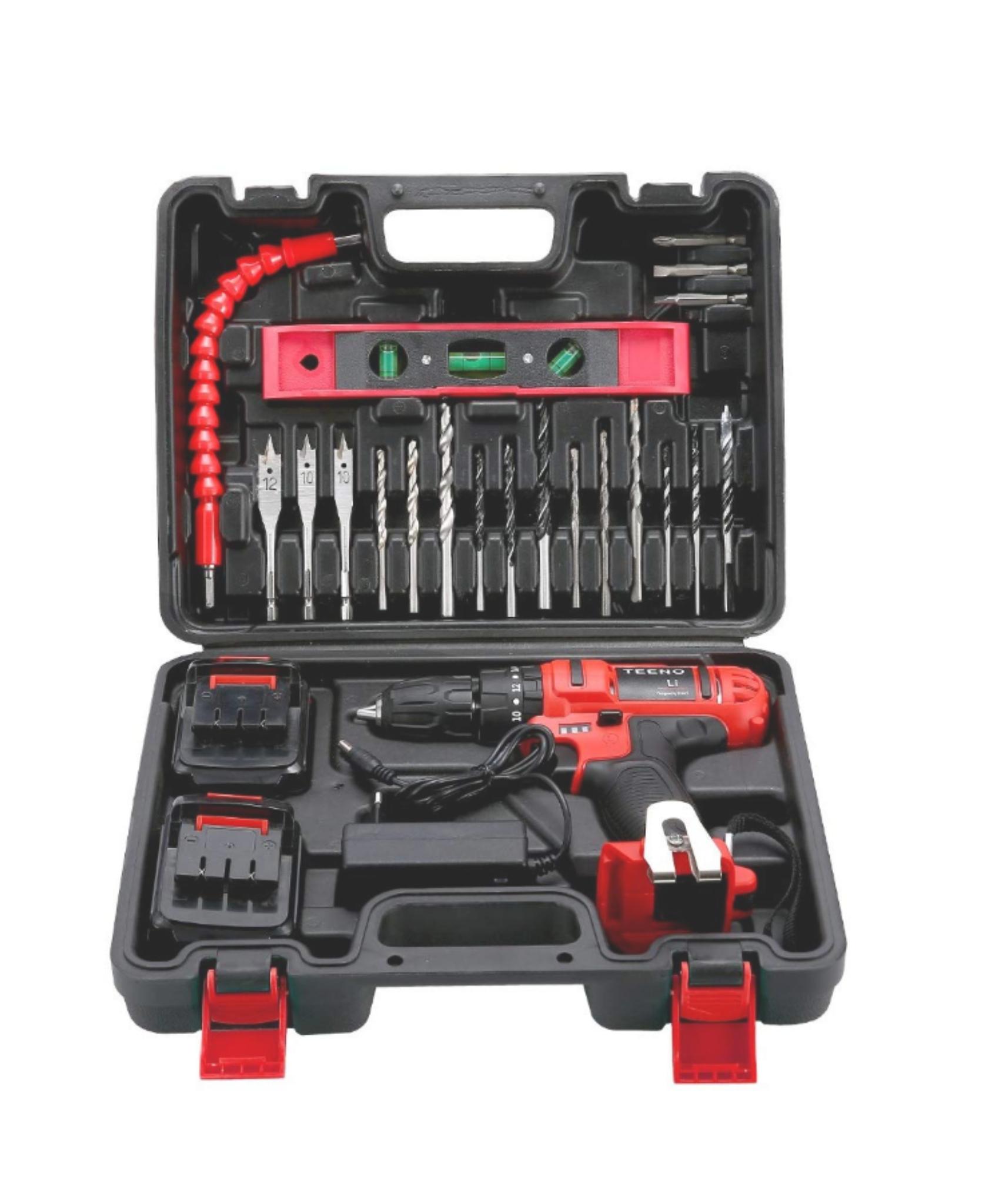 taladro Percutor sin cable 21V+2 baterías de iones de litio+20 accesorios + guantes profesionales