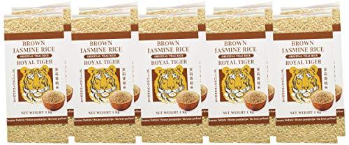 Arroz Royal Tiger Brown Jasmine - Paquete de 10 x 1.000 gr - Total: 10 Kg.