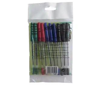 [AlCampo] Pack de 10 bolígrafos ( 4 colores: azul, negro, rojo y verde)