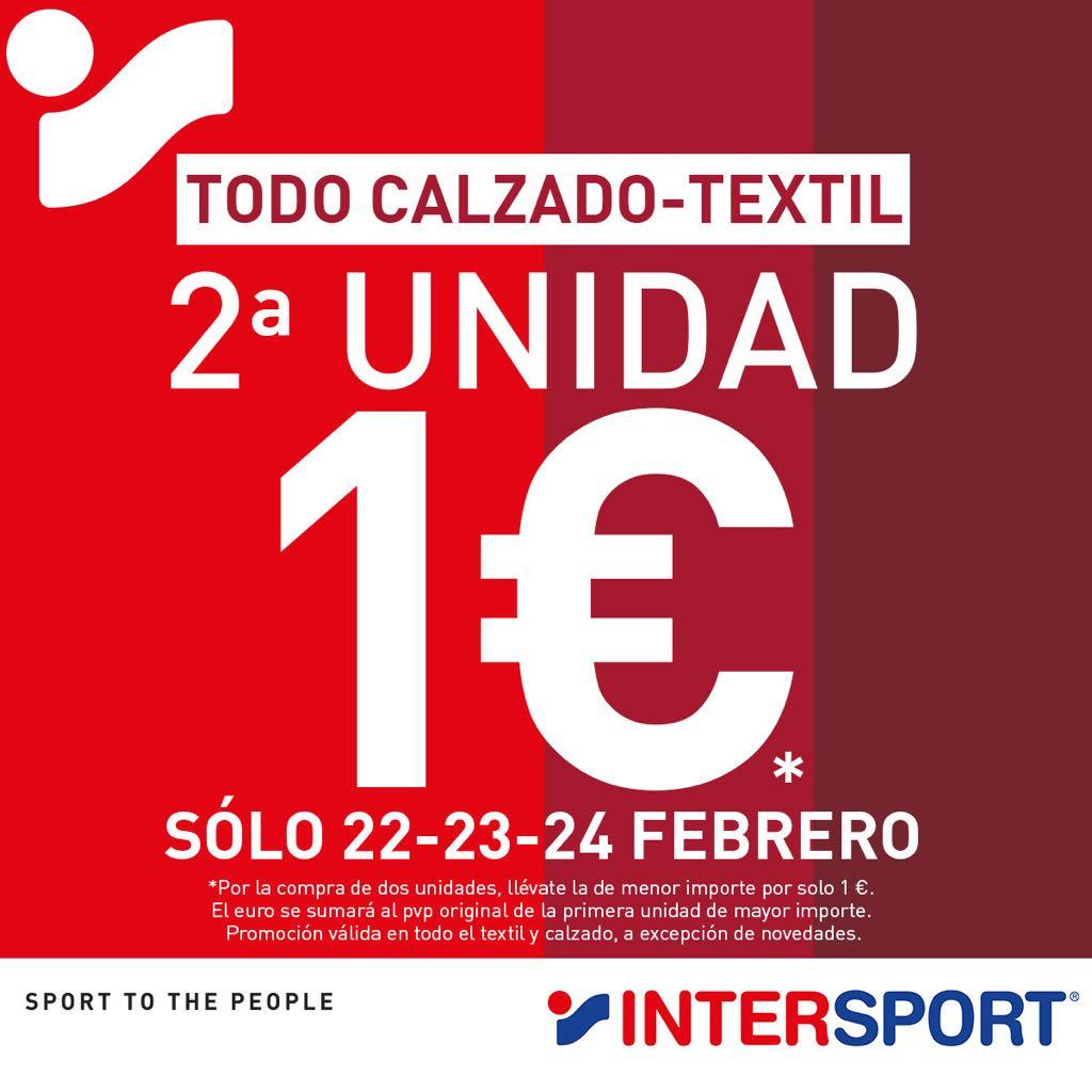 Intersport segunda unidad a 1€