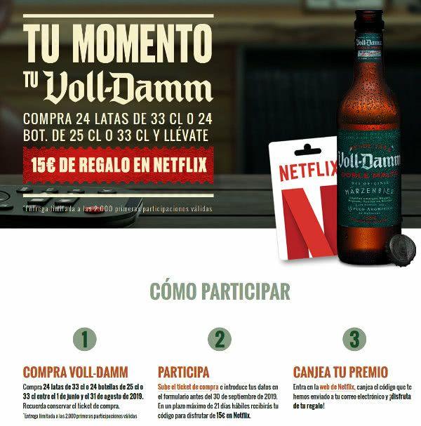 15€ para Netflix con Voll Damm