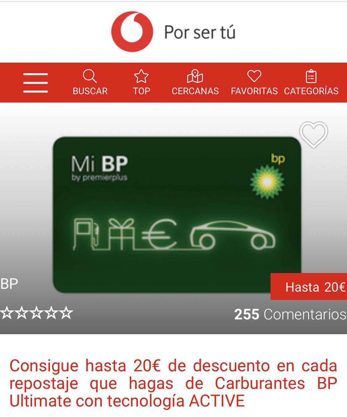 2€ de descuento BP si eres de Vodafone