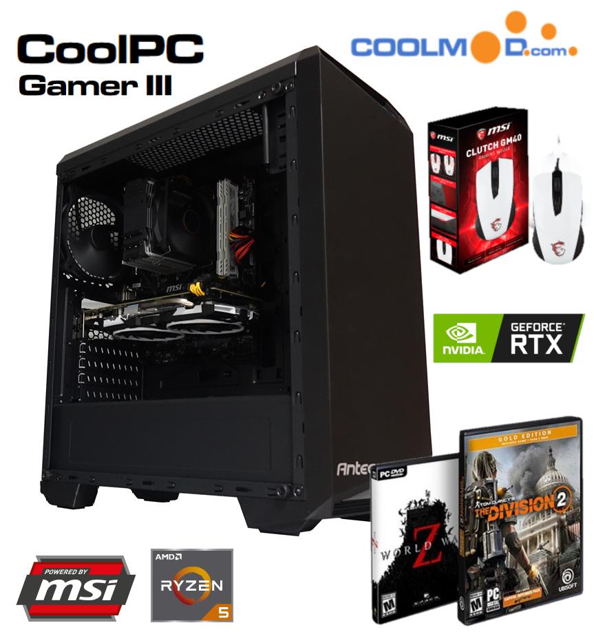 CoolPC Gamer III - R5 2600 / RTX 2060 6Gb / 16GB DDR4 3200Mhz / SSD 240Gb [+REGALOS]