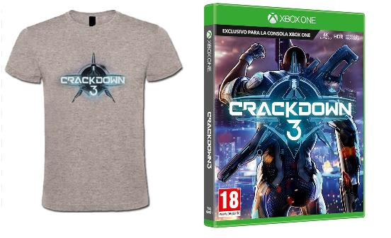 Crackdown XBOX con camiseta solo 19.9€
