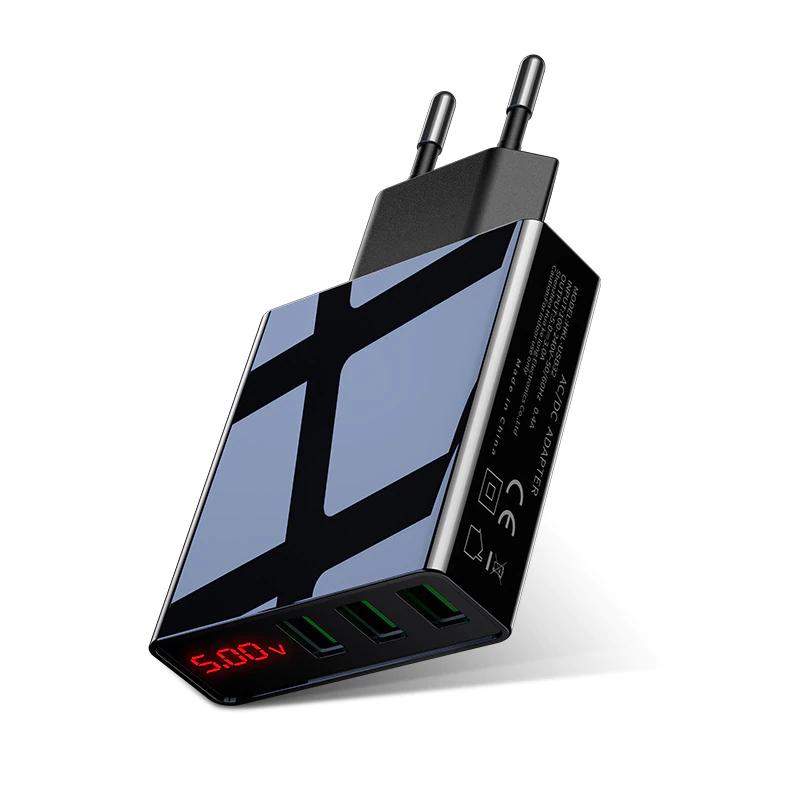 Cargador 3 Puertos USB con Pantalla LED