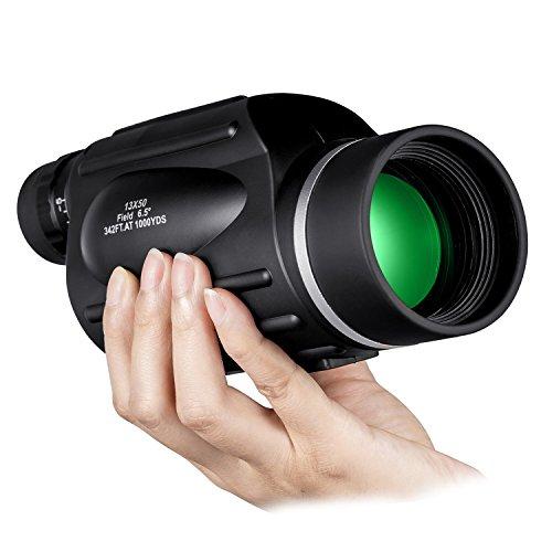 Monocular Qunse de alta potencia, 13 x 50, óptica de gama alta, sistema compacto, ideal para la observación de aves, caza y viajes, visión clara