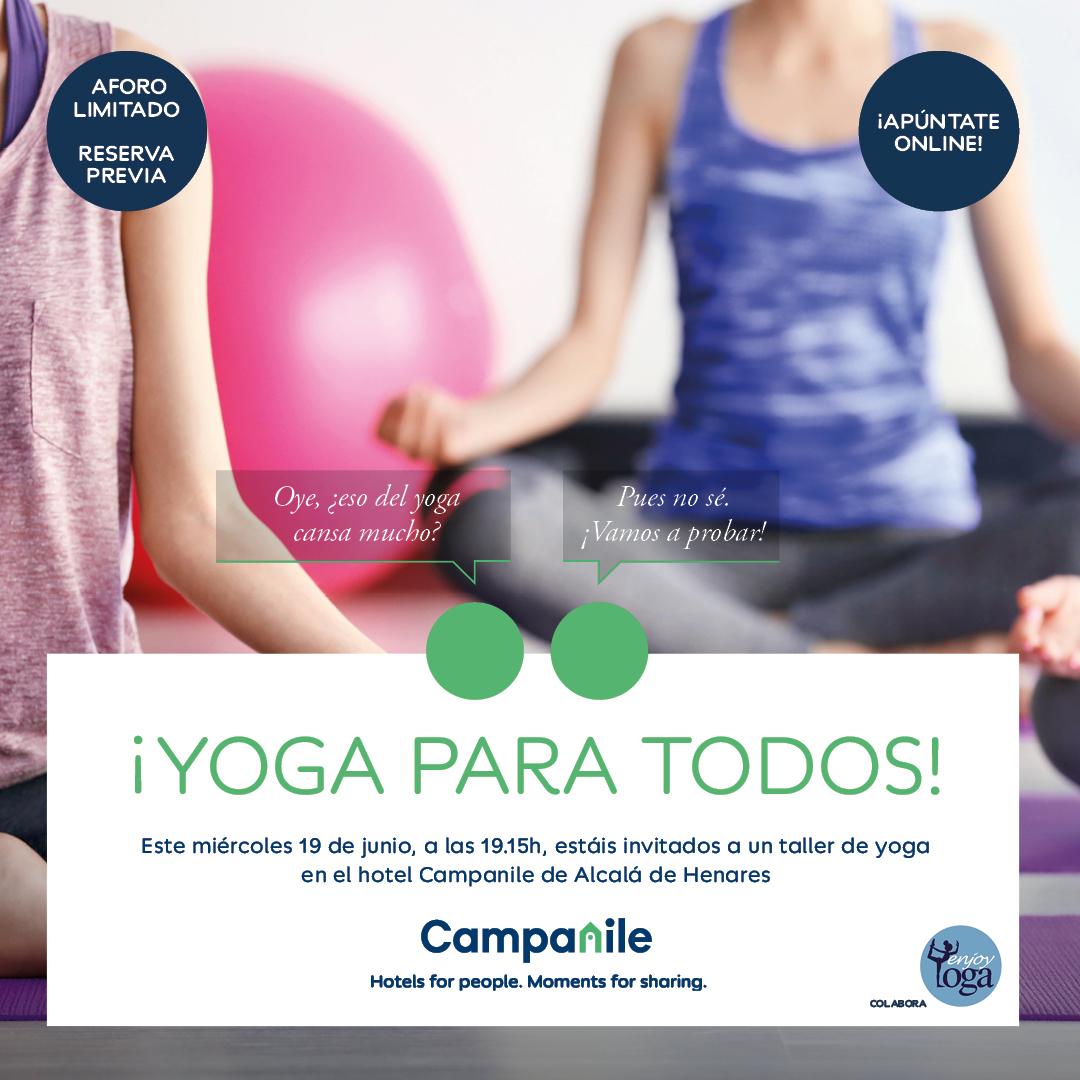 Yoga Gratis en Alcalá de Henares el día 19!