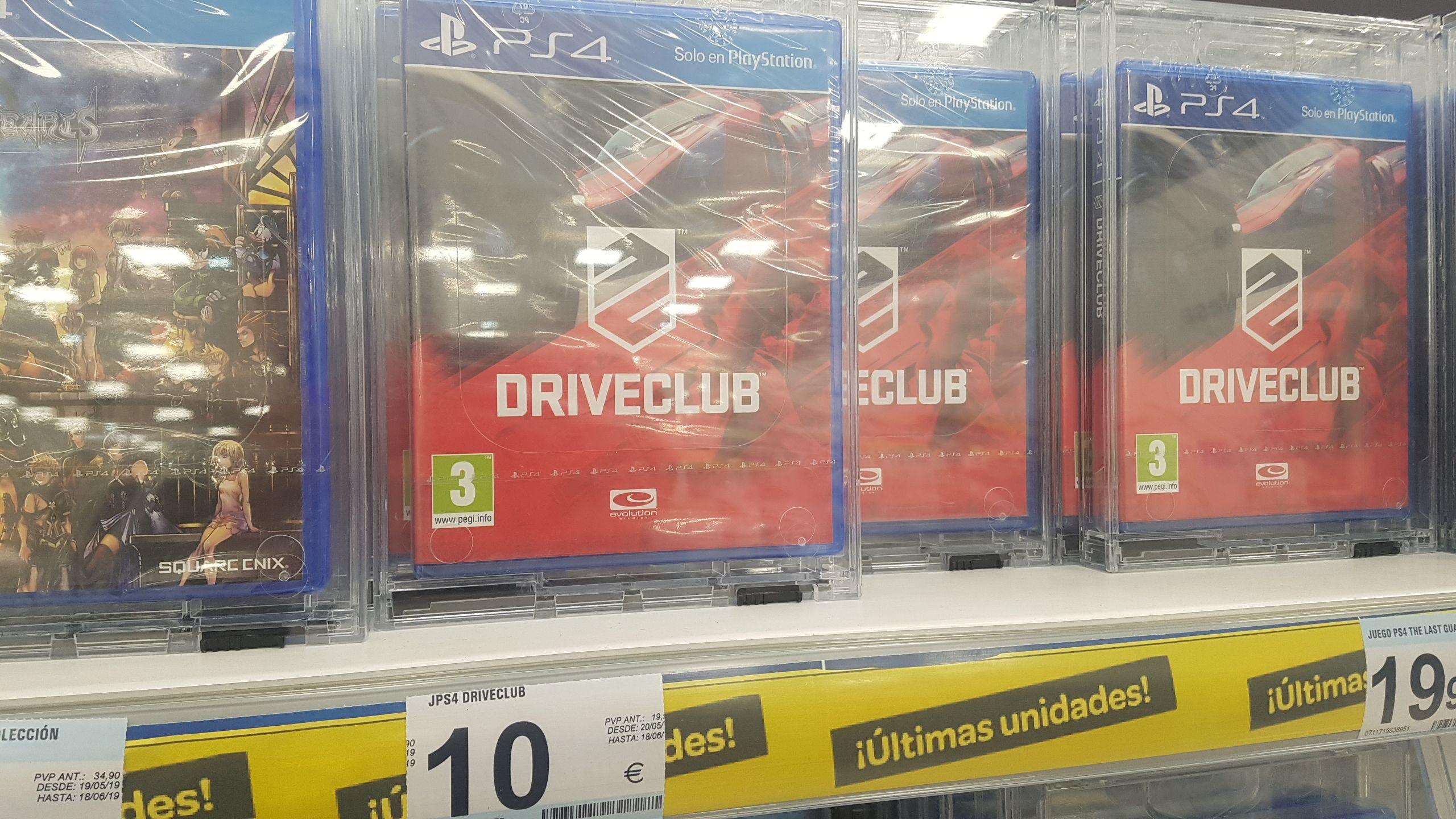 Juego PS4 Driveclub (Carrefour en Sa Coma, Mallorca)