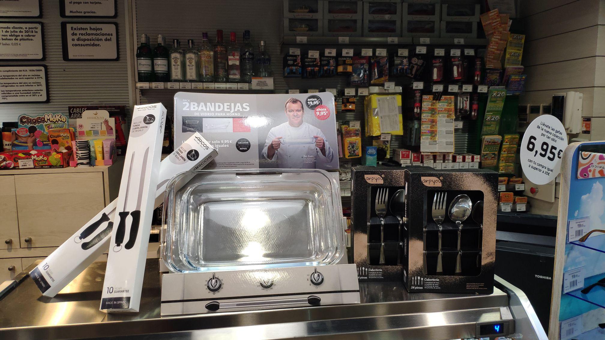Promo cubertería cuchillo jamonero y bandejas de horno (cada pieza)