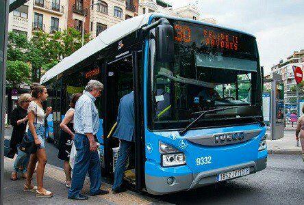Autobuses EMT gratis por la castellana (Madrid)