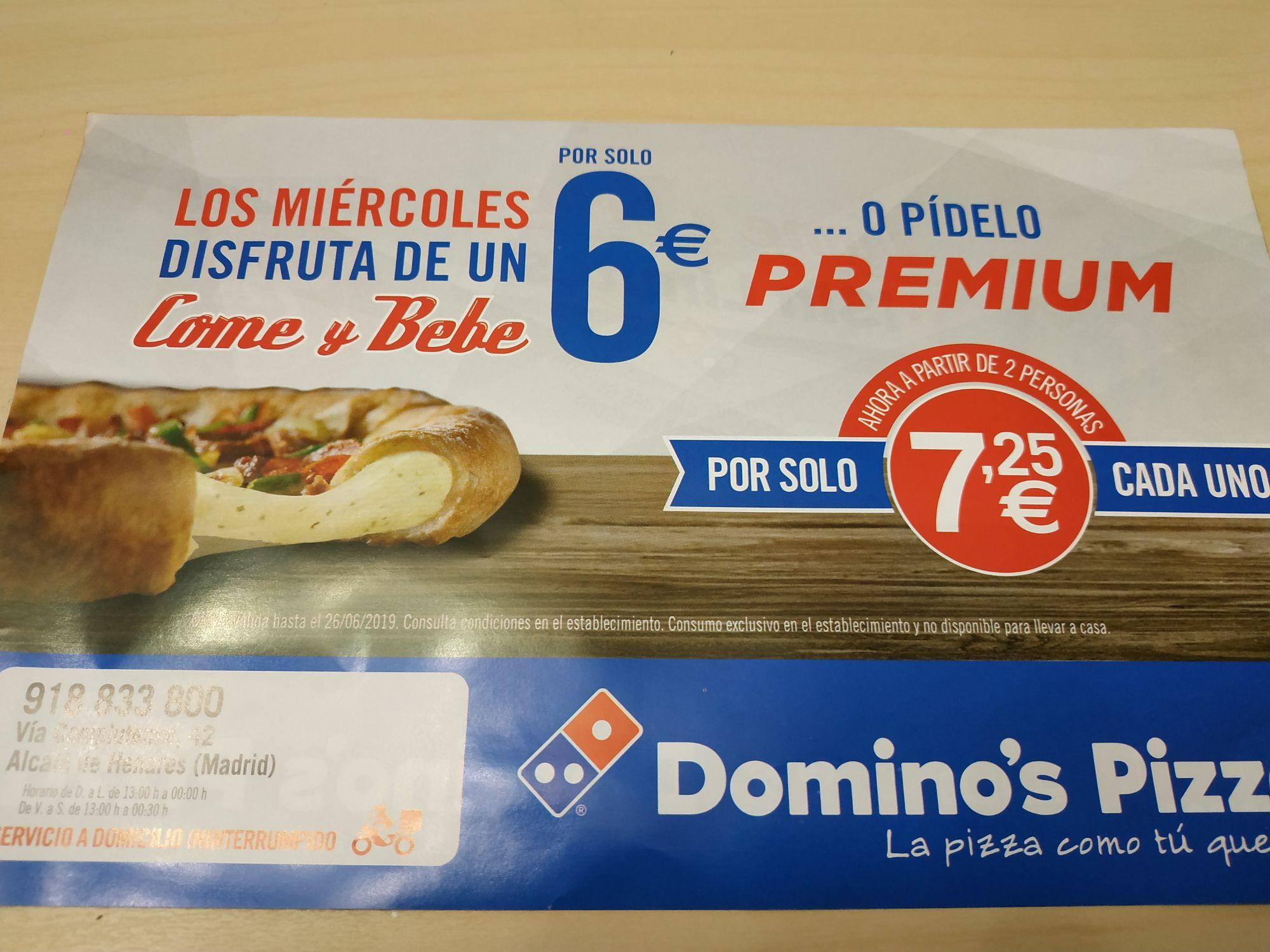 Come y bebe lo que quieras en Domino's Pizza