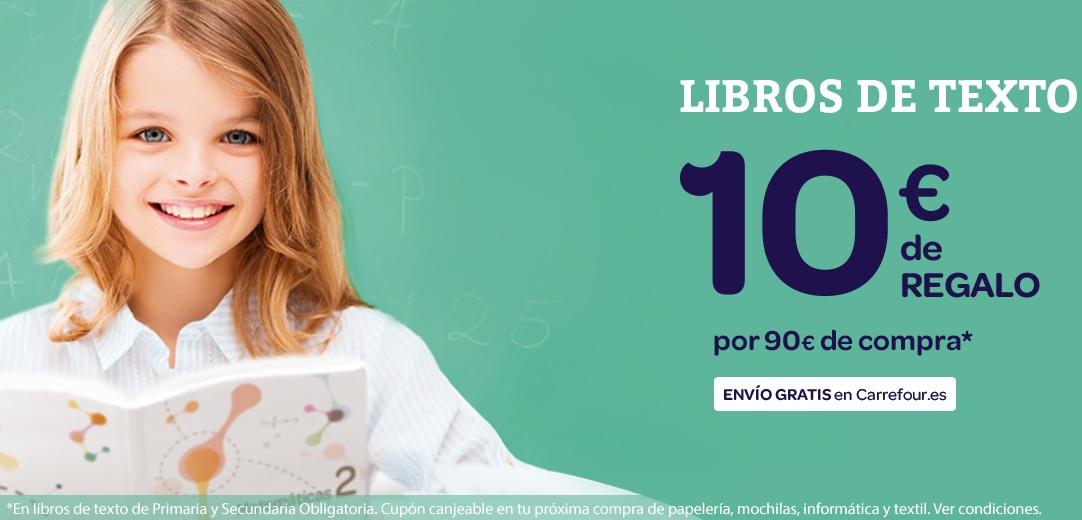 10 Euros de REGALO y envío GRATIS comprando 90 en libros de texto Carrefour