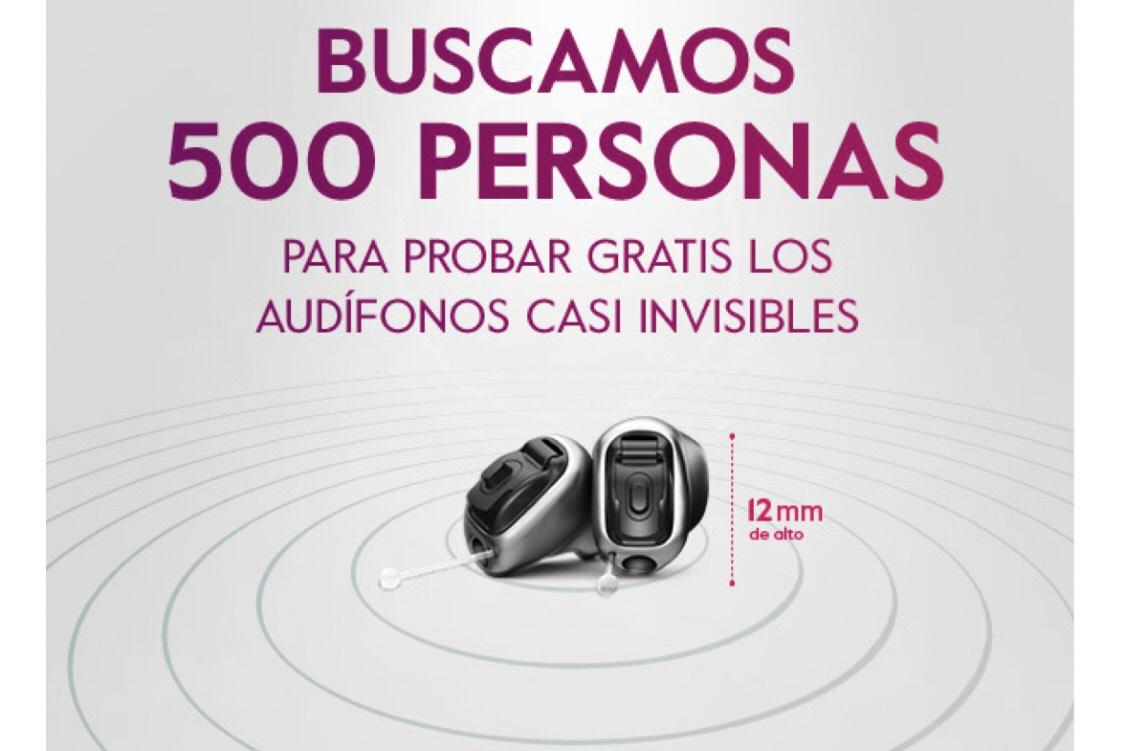 Prueba gratis 500 audífonos