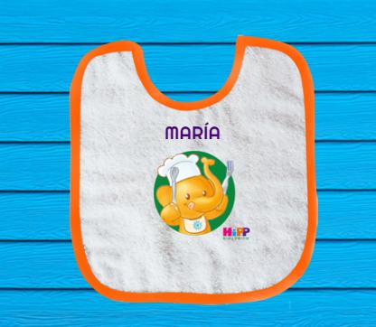 Babero bebé personalizado GRATIS