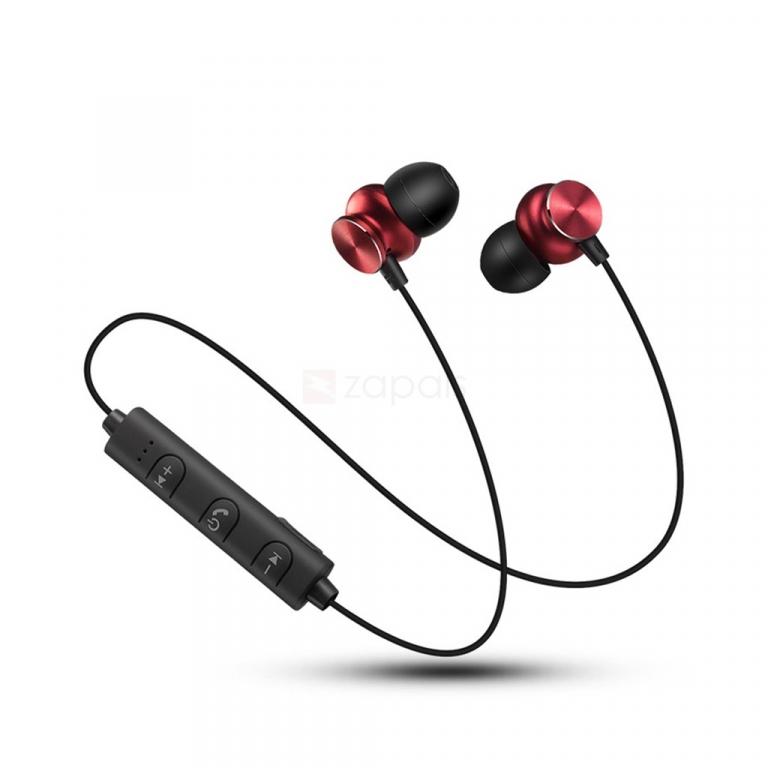 Auriculares Bluetooth magnéticos.