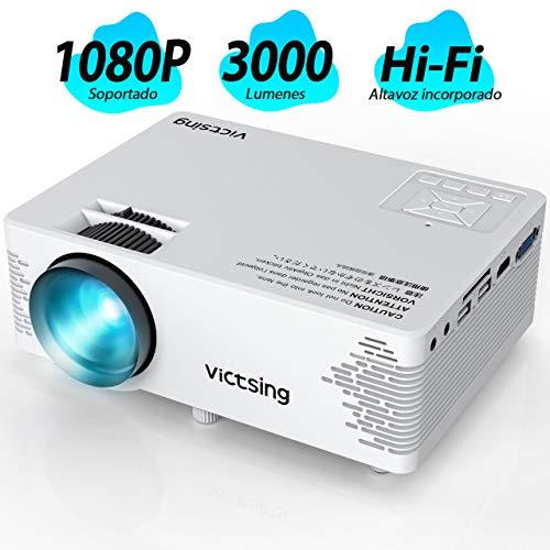 "VicTsing Mini Proyector Portatil, Full HD 1080P y Pantalla de 170"" - 3000Lumens"
