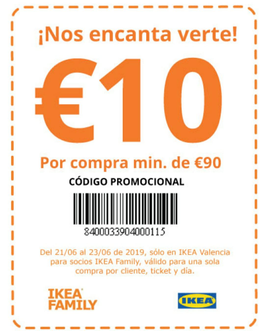 IKEA VALENCIA- 10€ descuento en compras 90€