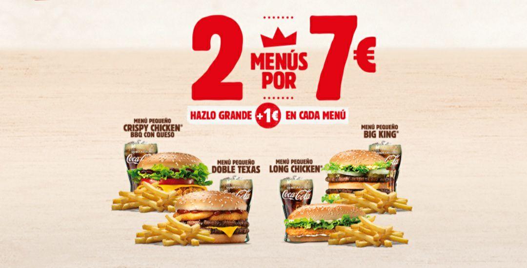 ¡Vuelve 2 menús por 7€!